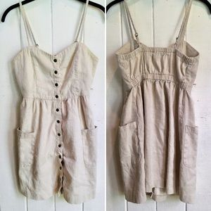Button-down Canvas Dress from Forever 21